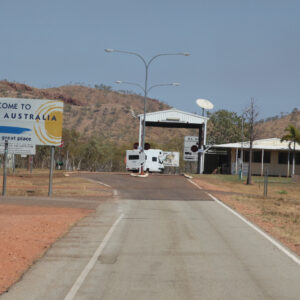 Grenspost NT en Western Australia