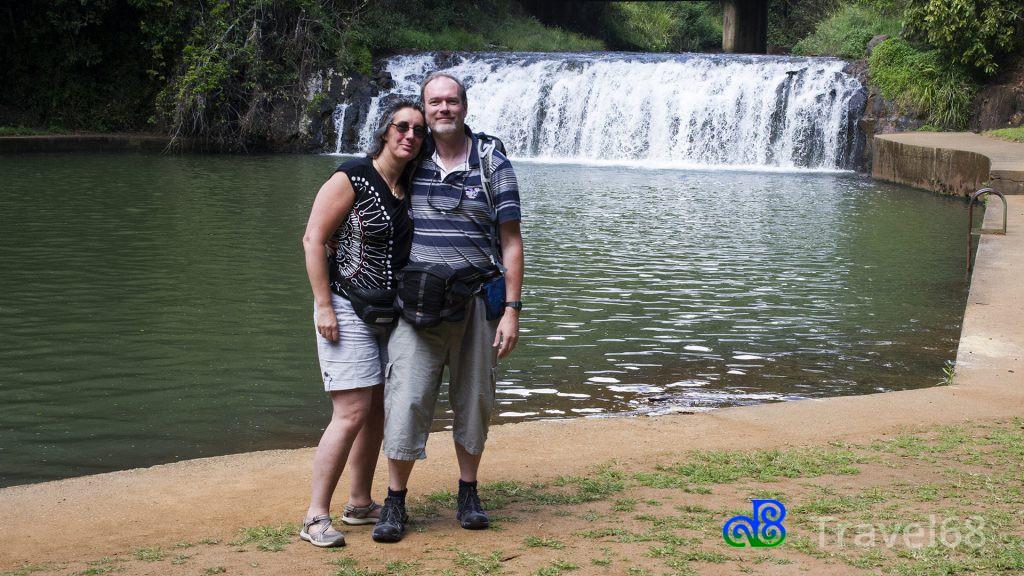 Wij zelf bij de waterval