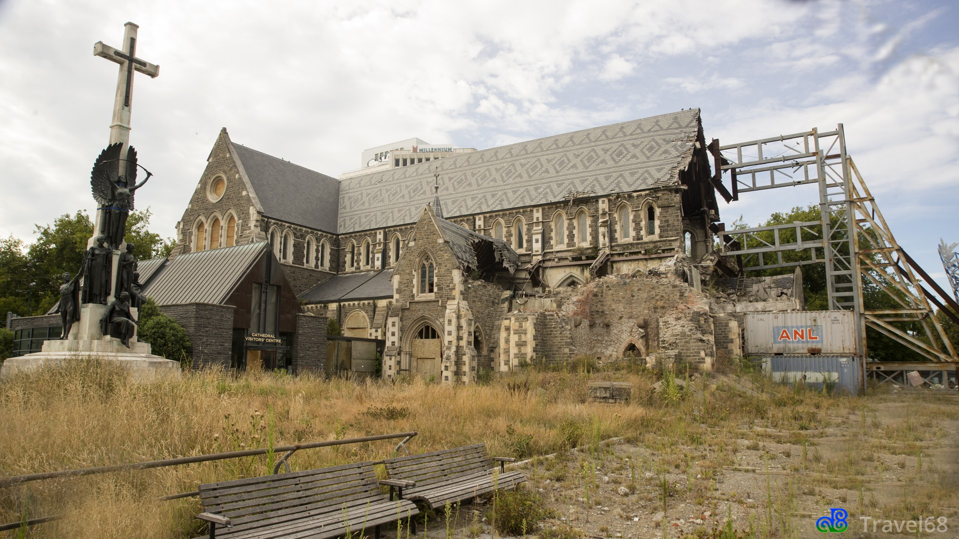 Restanten die nog over zijn van ChristChurch Cathedral