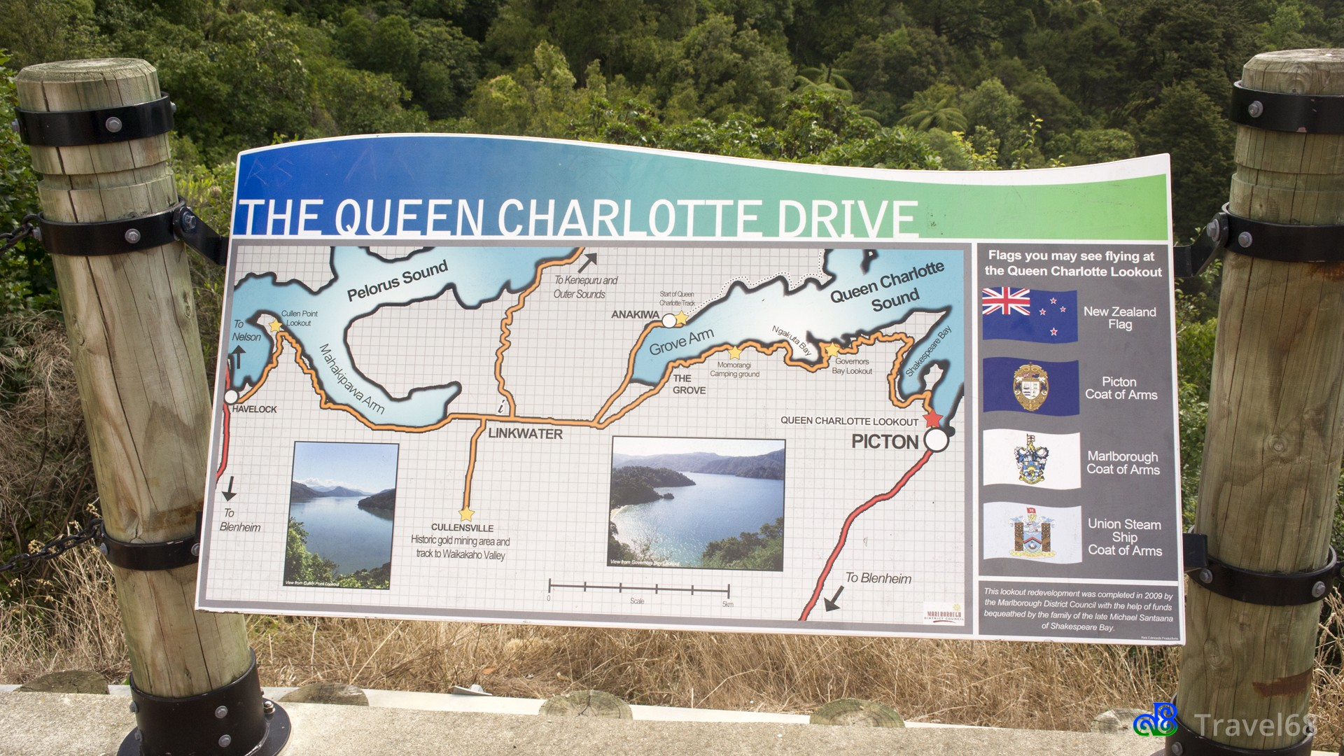 Vanuit Picton namen we de mooie Queen Charlotte drive richting Havelock