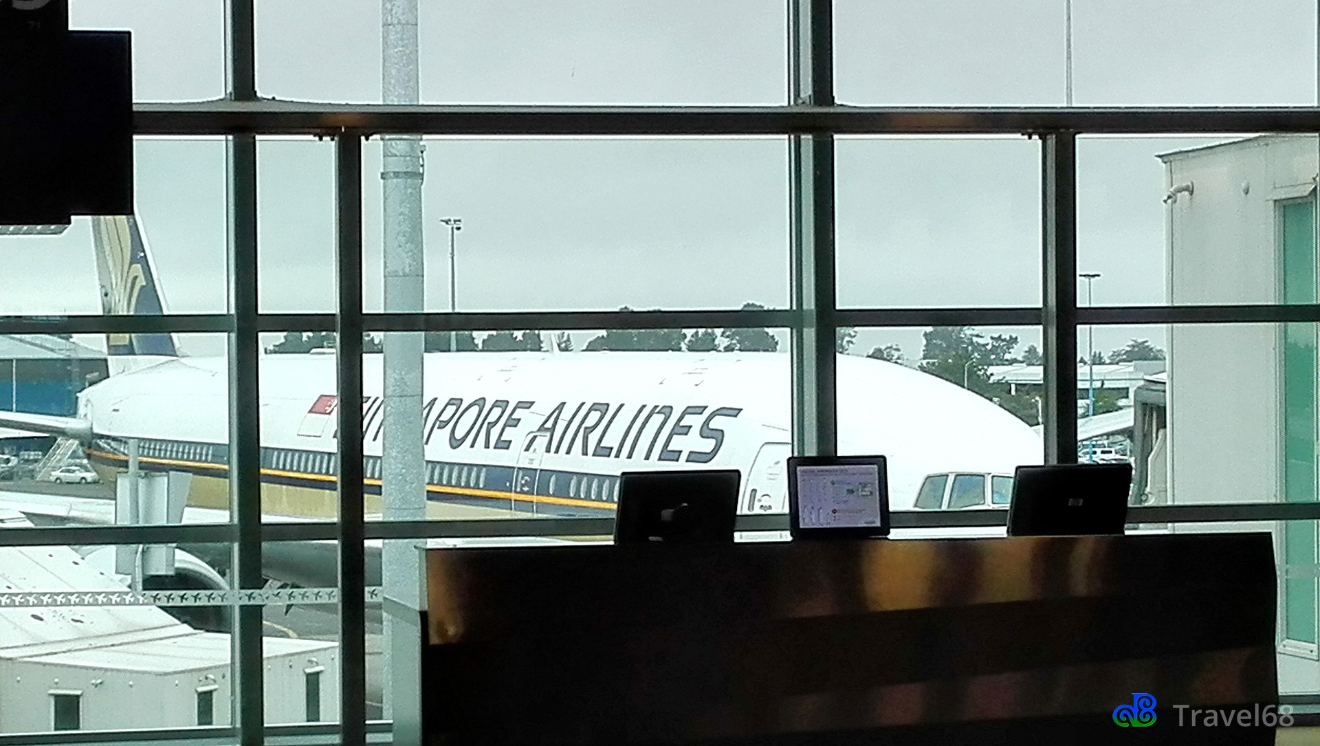 Het vliegtuig staat al klaar voor vertrek