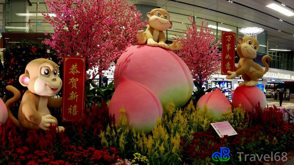 Het jaar van de Aap op Changi Singapore Airport
