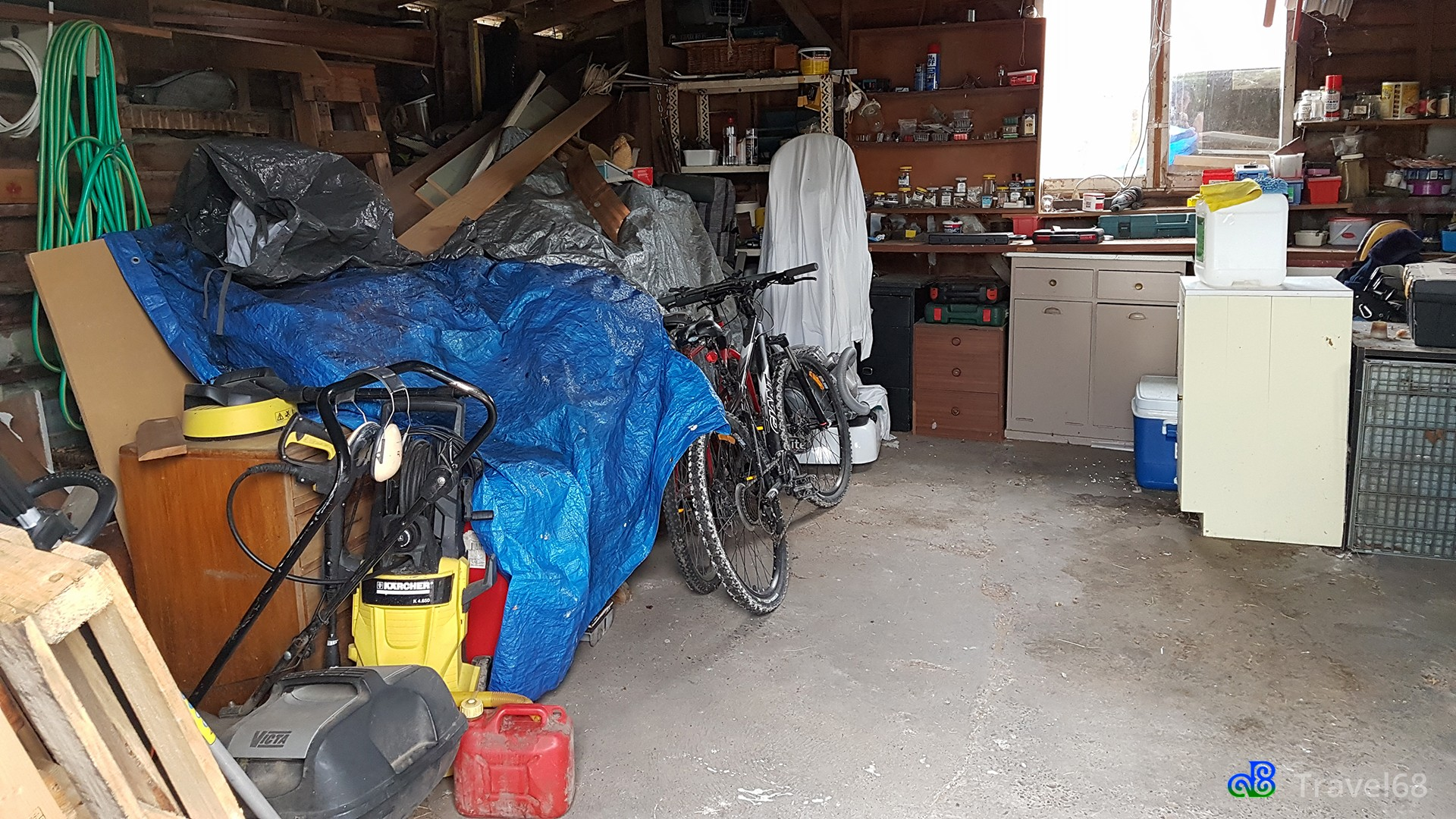 Zo zag de garage eruit
