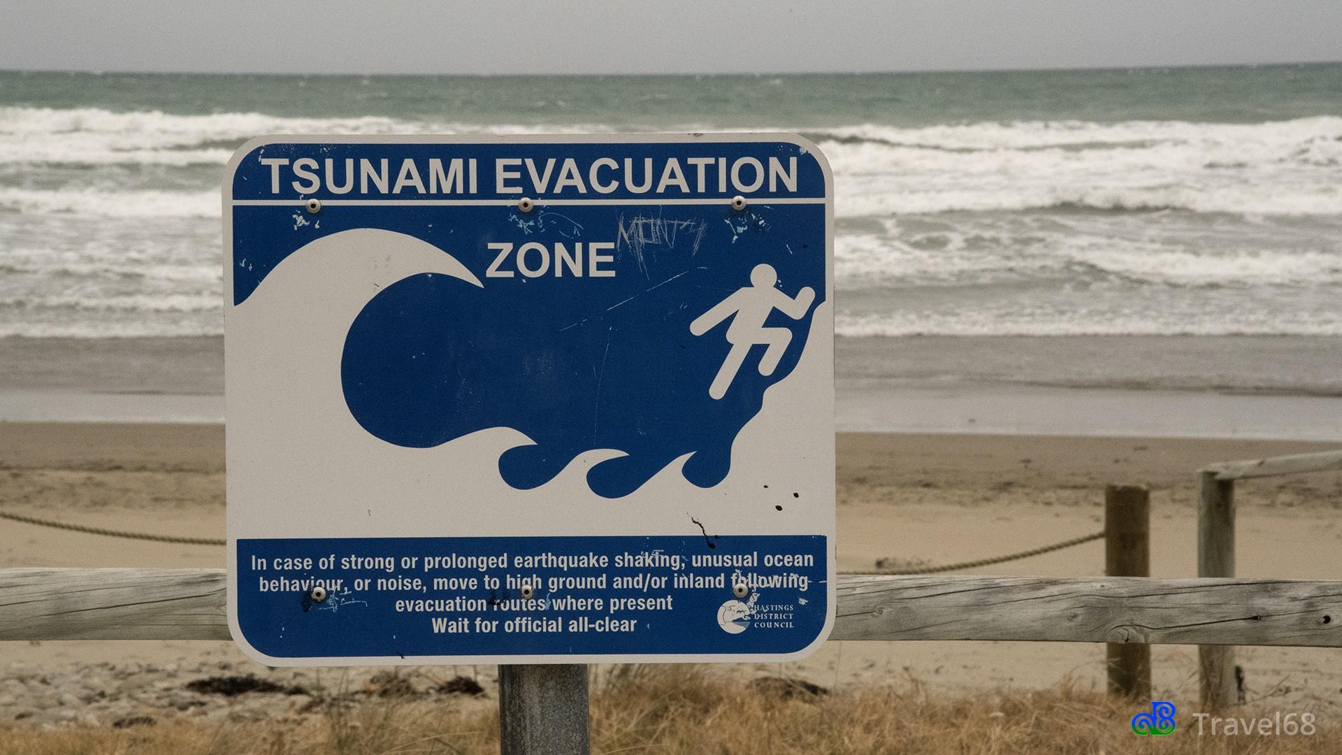 Waarschuwing voor een tsunami