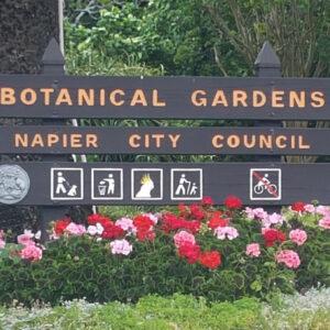 De botanische tuin van Napier