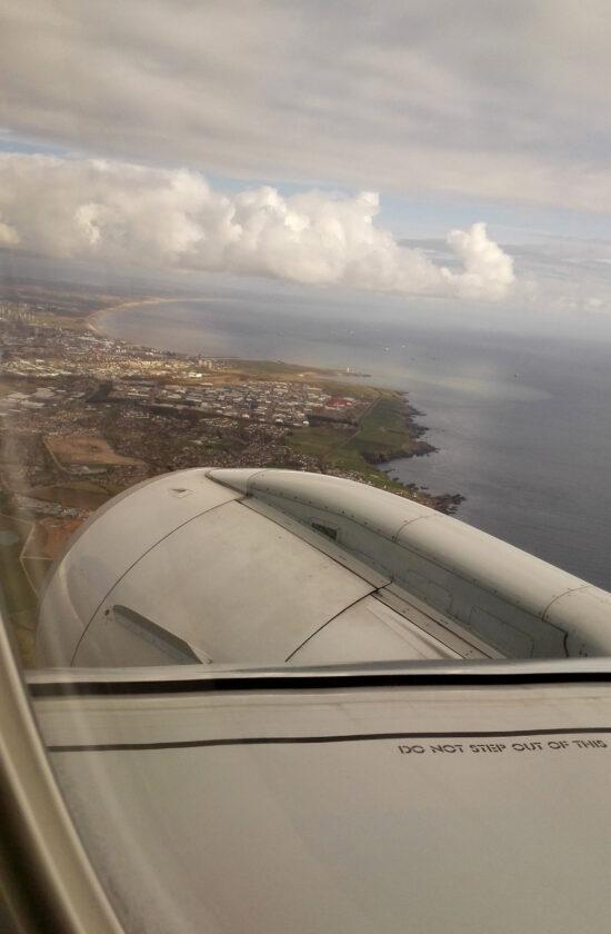 Vliegtuig uitzicht