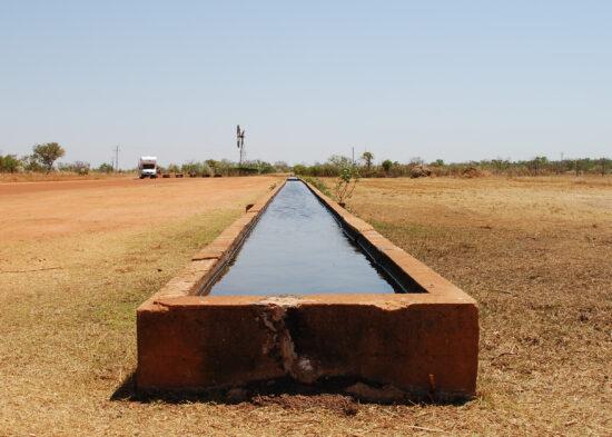 Trog van 120 meter lang; konden 500 stieren tegelijk hun dorst lessen
