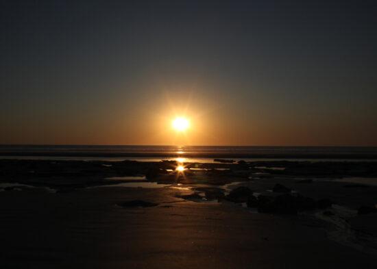 Ook in Broome gaat de zon onder