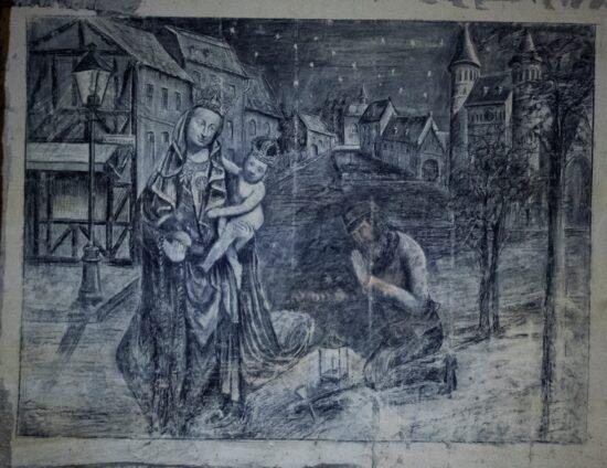 Tekening van Maria