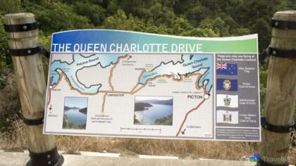 Vanuit Picton namen we de mooie Queen Charlotte drive richting Havelock