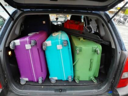 Deze koffers gaan allemaal mee het vliegtuig in
