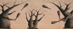 Baobab muurschildering