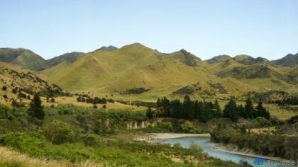 Landschap op weg naar Hamner Springs